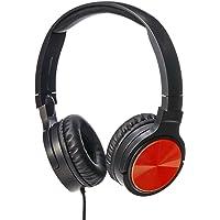 AmazonBasics Lightweight On-Ear Headphones - Red