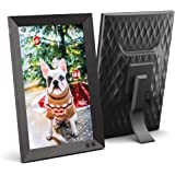 NIX 10.1 Inch Digital Picture Frame - Portrait or Landscape Stand, HD Resolution, Auto-Rotate, Remote Control - Mix…