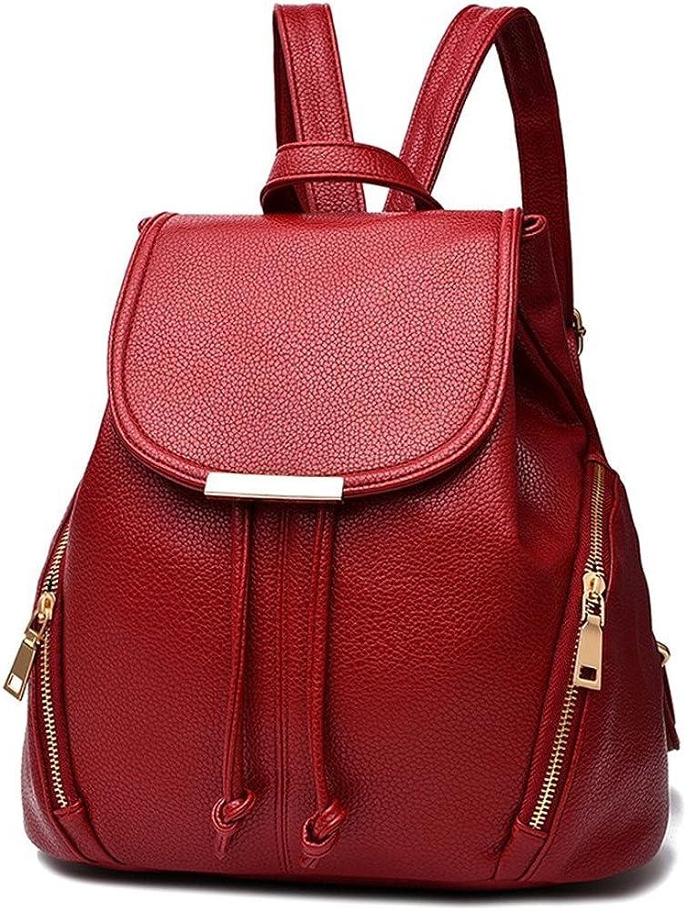 Hynbase Women Cute Travel Leather Rucksack Schoolbag Backpack Shoulder Bag