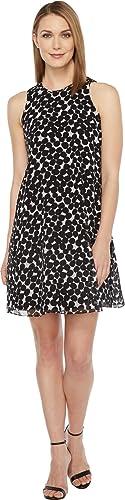 Calvin Klein Women's Chiffon Floral Trapiz Dress