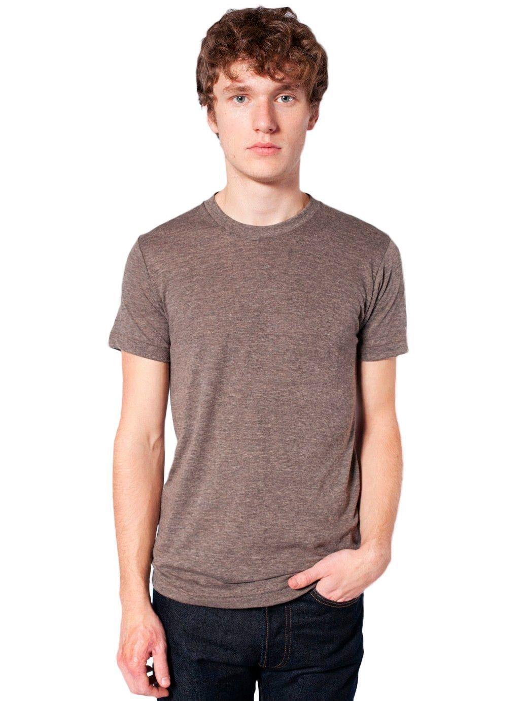 American Apparel Unisex Tri-Blend Short Sleeve Track Shirt - Tri-Coffee / S