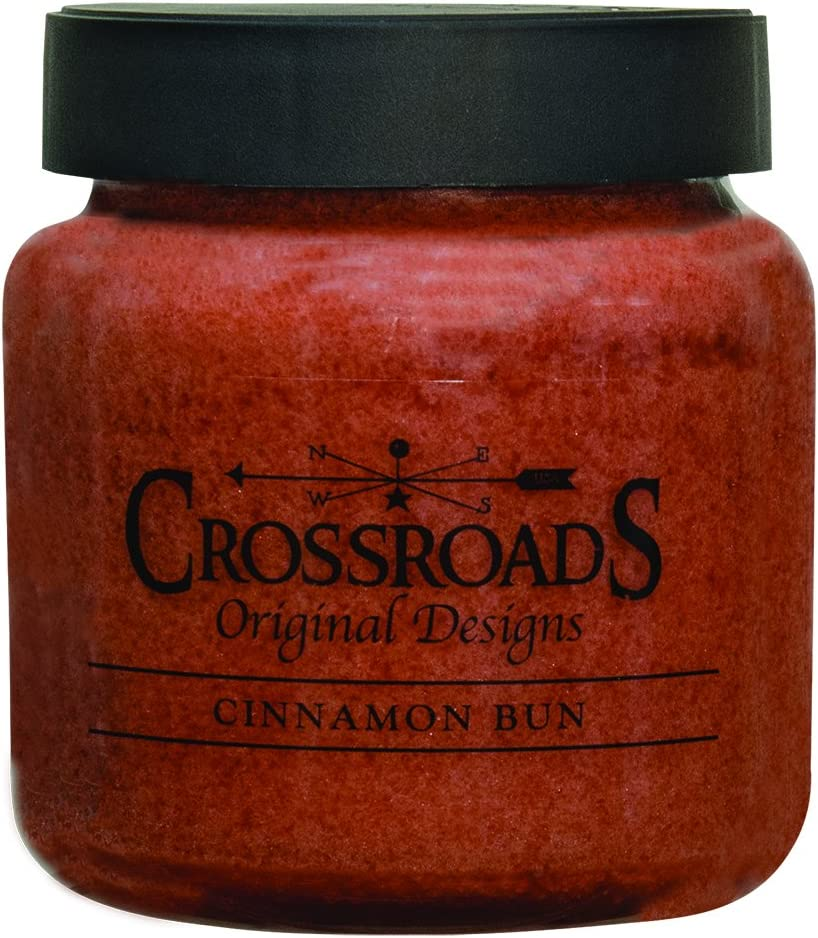 Crossroads Candle 16 Ounce Jar Candle - Cinnamon Bun