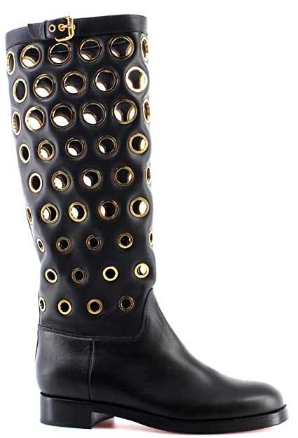 Christian Louboutin Women s Shoes Boots Apollobotta Calf Black Gold Italy  New  Amazon.co.uk  Shoes   Bags d37cb0ba35