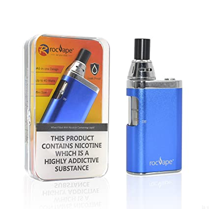 Vape Box Mod Pen Rocvape 40w E Cigarette Vaporizer Kit All in One AIO Starter Kit