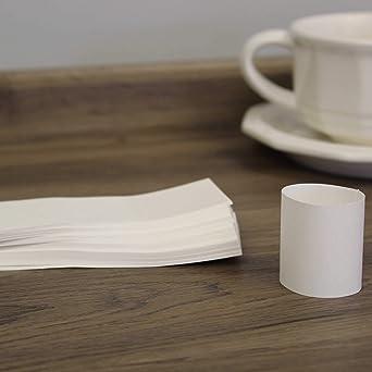 Cutlery Band Kraft Napkin Band 50-100 Self Adhesive Kraft Napkin Bands Napkin Bands Party Supply Self Adhesive Napkin Bands Tableware