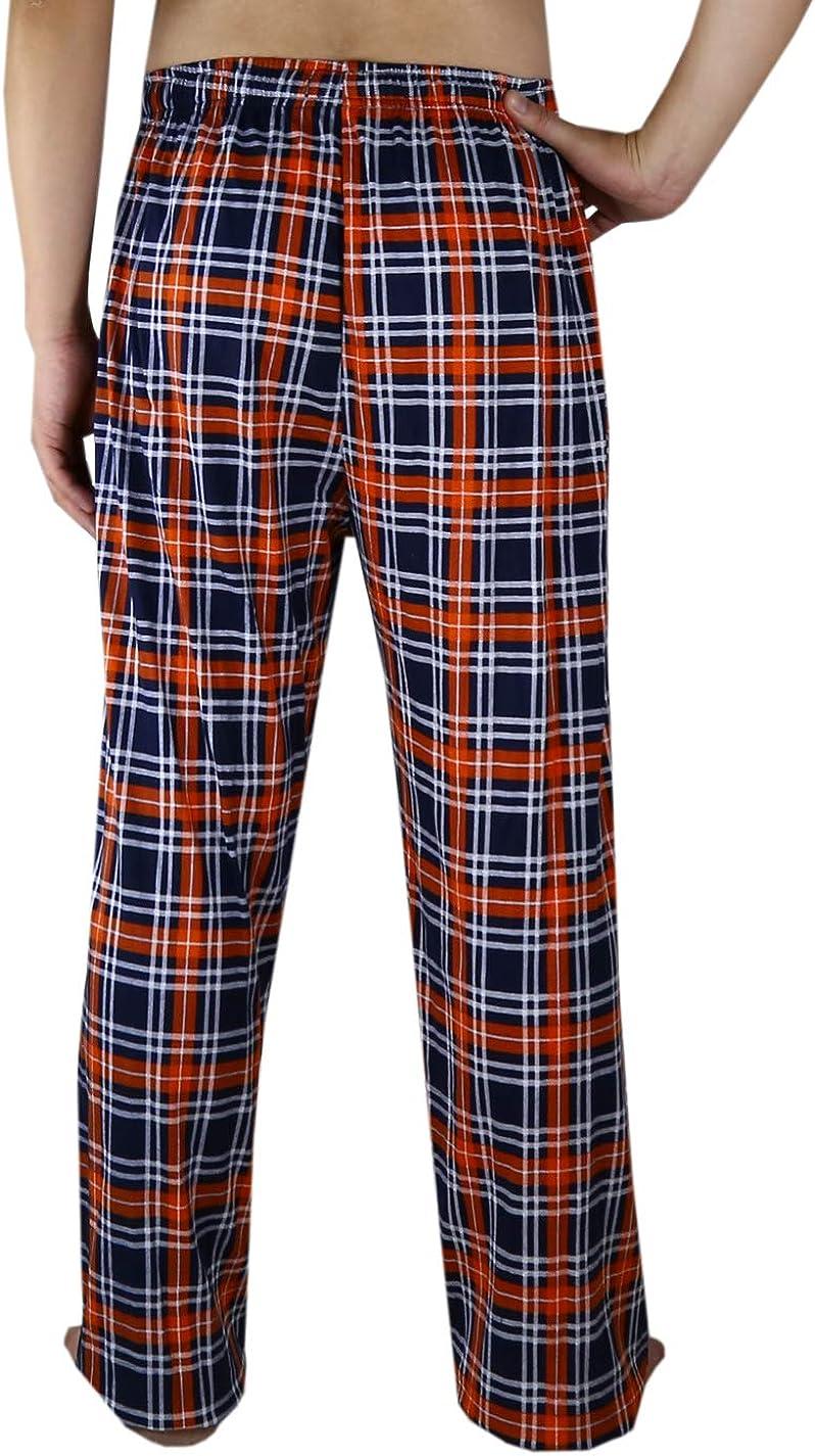 Mens Athletic Plaid Pajama Pants:DEN Broncos Mulitcolor