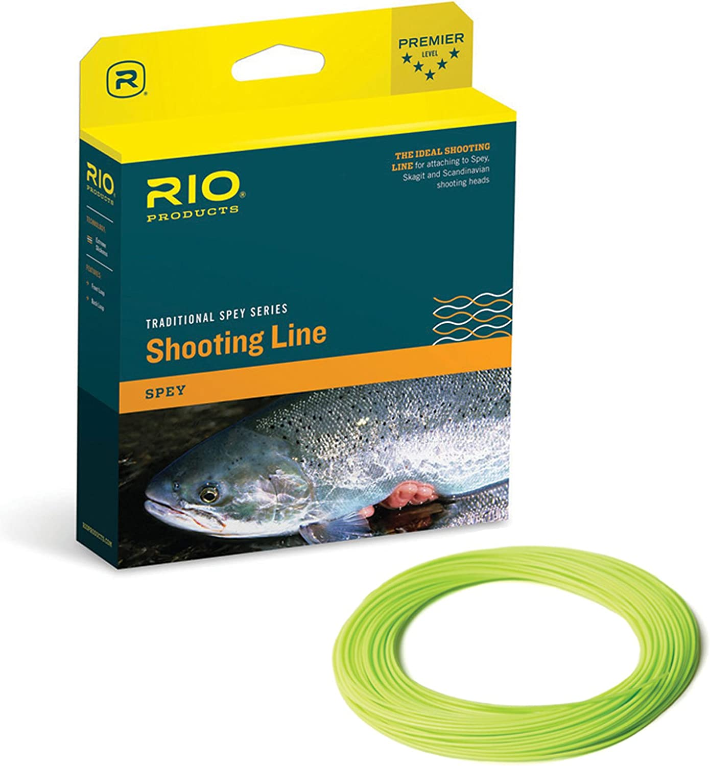 RIO Products Fly Line Powerflex Max Shooting Line .030 Floating, Chartreuse