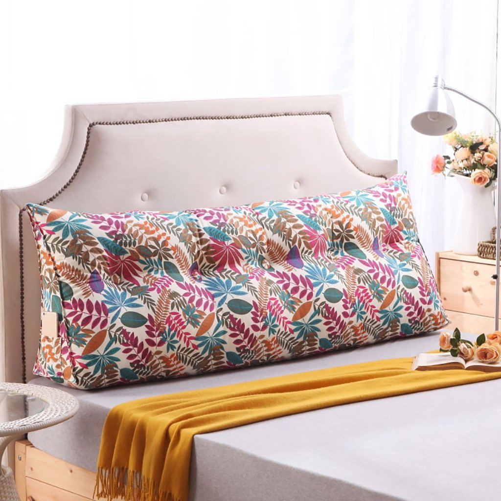 QIANGDA Headboard Cushion Canvas Triangular Wedge Cushion Bay Window Mat Bed Backrest Positioning Support Pillow,6 Colors 7 Sizes Available (Color : 6#, Size : 1005023cm)