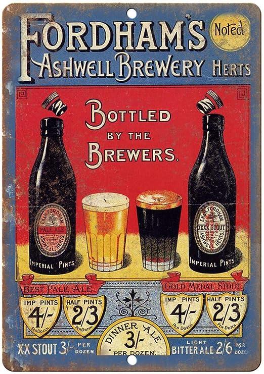 Shunry Fordhams Ashwell Brewery Placa Cartel Vintage Estaño ...