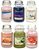 Official Yankee Candle Selection box – Set di 6 Classic Signature grande barattoli
