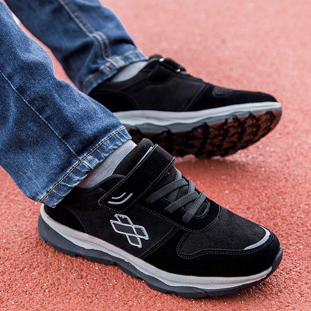 JZX Chaussures De Marche pour Personnes Âgées, Chaussures De De Chaussures Sport D'Âge Moyen Et Décontractées, Chaussures Antidérapantes pour Papa en Automne Et en Hiver 40|Noir 17292f