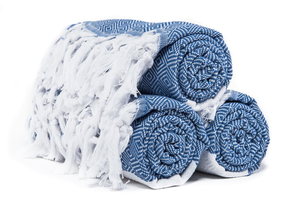 Atlantis Turkish Peshtemal Towel for Beach Bath Denim Blue Diamond Pattern 100% Cotton 40x69 - Show your lifestyle with this luxury authentic Turkish towel. Get noticed everywhere you go, be it a beach or gym, show the world the real, exotic you Peshtemals are more absorbent, dries faster, and takes up less space Suitable for: Beach, Bath, Pool, Shawl, Scarf, Bandana, Yoga Mat, Picnic Cover Up - bathroom-linens, bathroom, bath-towels - 717GW%2BmOQXL -