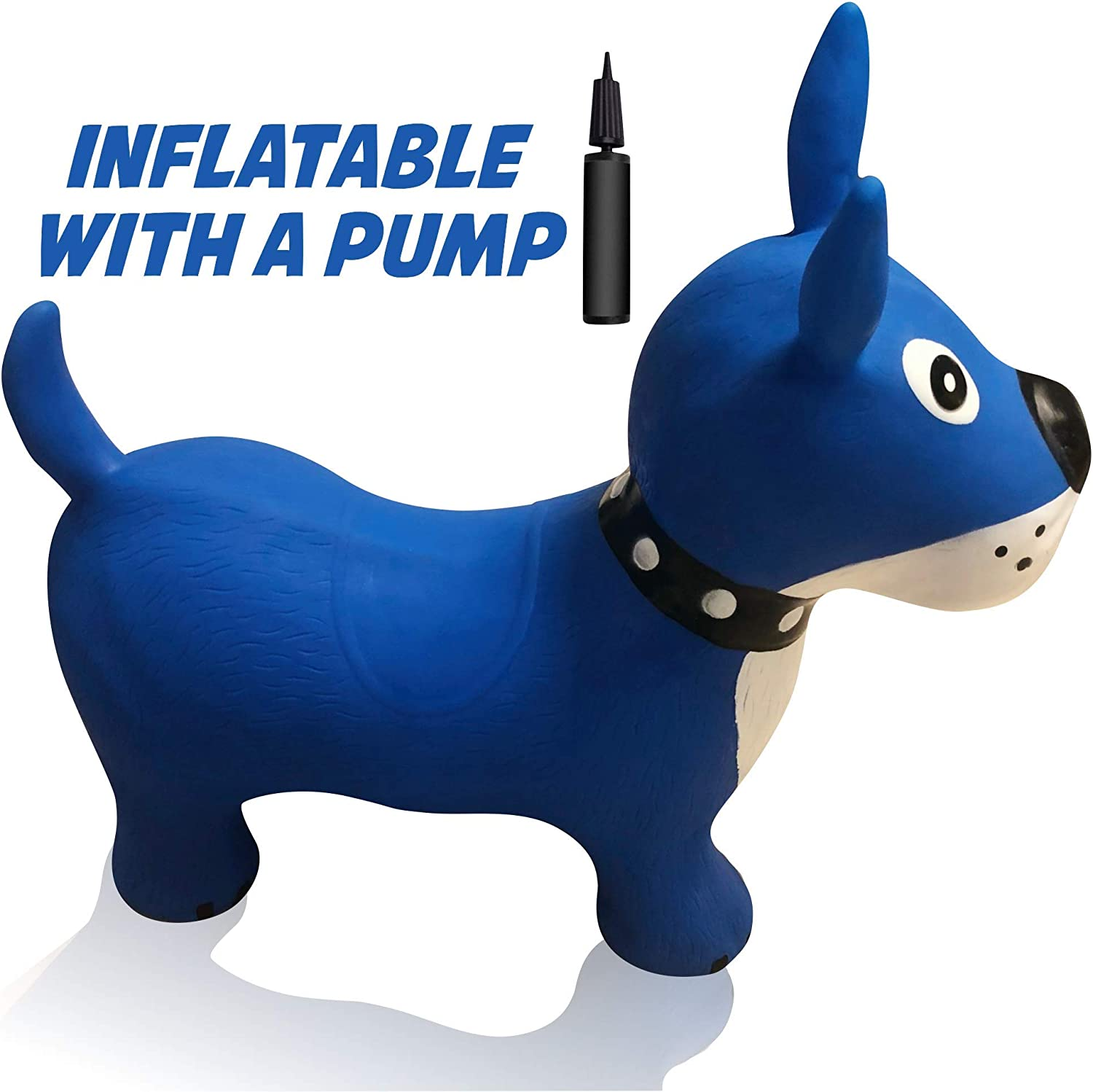 Hoovy Inflatable Bouncy Horse with Pump | Bouncing White Unicorn Ride on Toy for Kids | Unlimited Animal Riding Fun & Ideal Jumping Hopper Gift for ...