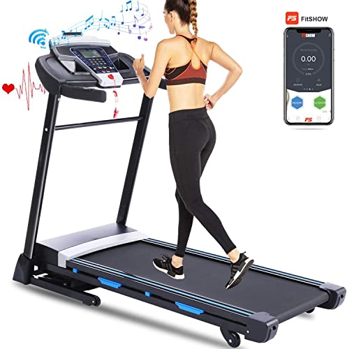 FUNMILY Treadmill, 3.25HP Folding Treadmill with Incline and Bluetooth Speaker, Walking Jogging Running Machine with APP Control for Home Gym