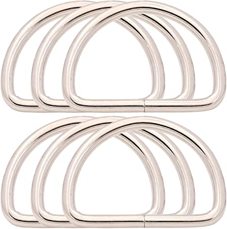 BIKICOCO Metal D-Rings Buckle 1//2 inch Non-Welded for Sewing DIY Bronze Pack of 100