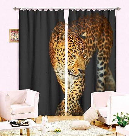 Amazon Com Wapel 2 Panles Set Modern Luxury 3d Curtains Golden