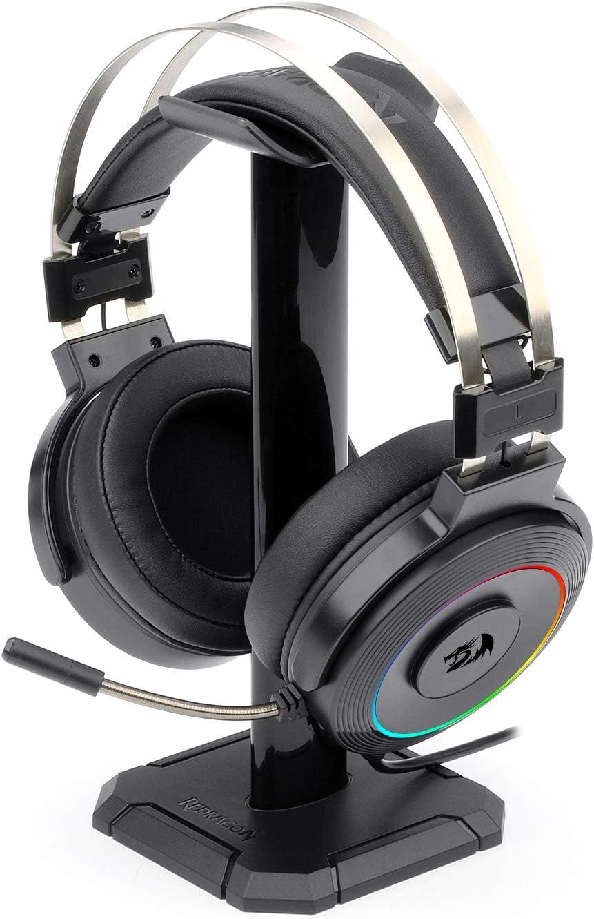 Redragon LAMIA 2 H320 RGB Auriculares para gaming 7.1 - Audio de Alta Definición + Potentes Bajos - Cascos con Micrófono para Juegos en PC - Incluye soporte y Software descargable