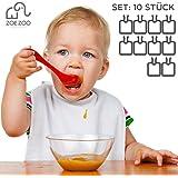 Lätzchen bemalbar | 10 Stück Set weiß | 100% Baumwolle mit wasserabweisender Rückseite | Kinder & Erwachsene | kreatives premium Geschenk Geburt, Babyparty Lätzchen bemalen | Marke ZoeZoo