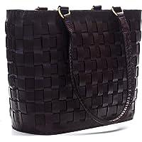 Goatter Genuine Leather Chex Design Women's Bag