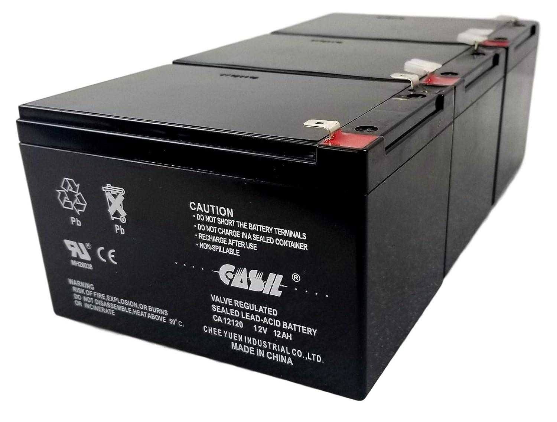 W15128190003-3 Razor Battery 3 Pack by Casil 12V 12Ah F2 Razor Battery MX500 MX650