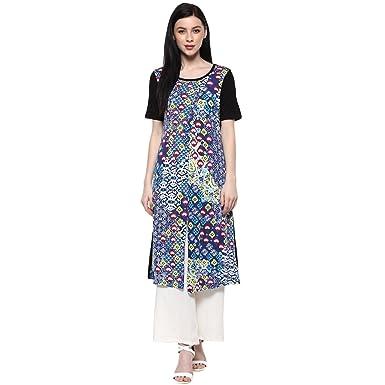 c55bd746ff1 Akkriti By Pantaloons Women s Viscose A-Line Tunic  Amazon.in ...