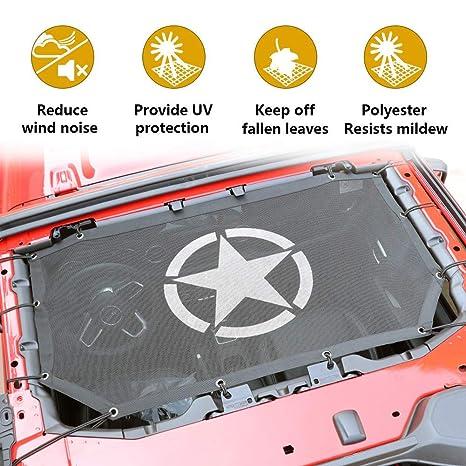Sukemichi Jeep JL Full Mesh Sunshade Bikini Top Cover for JL Wrangler  Sahara Rubicon 2 4 Door