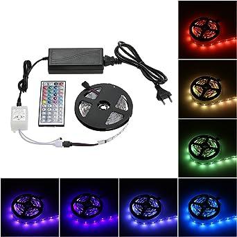 LED Strip, Tomshine LED Strip Light, RGB 150 Led Lichtleiste DC 12V ...
