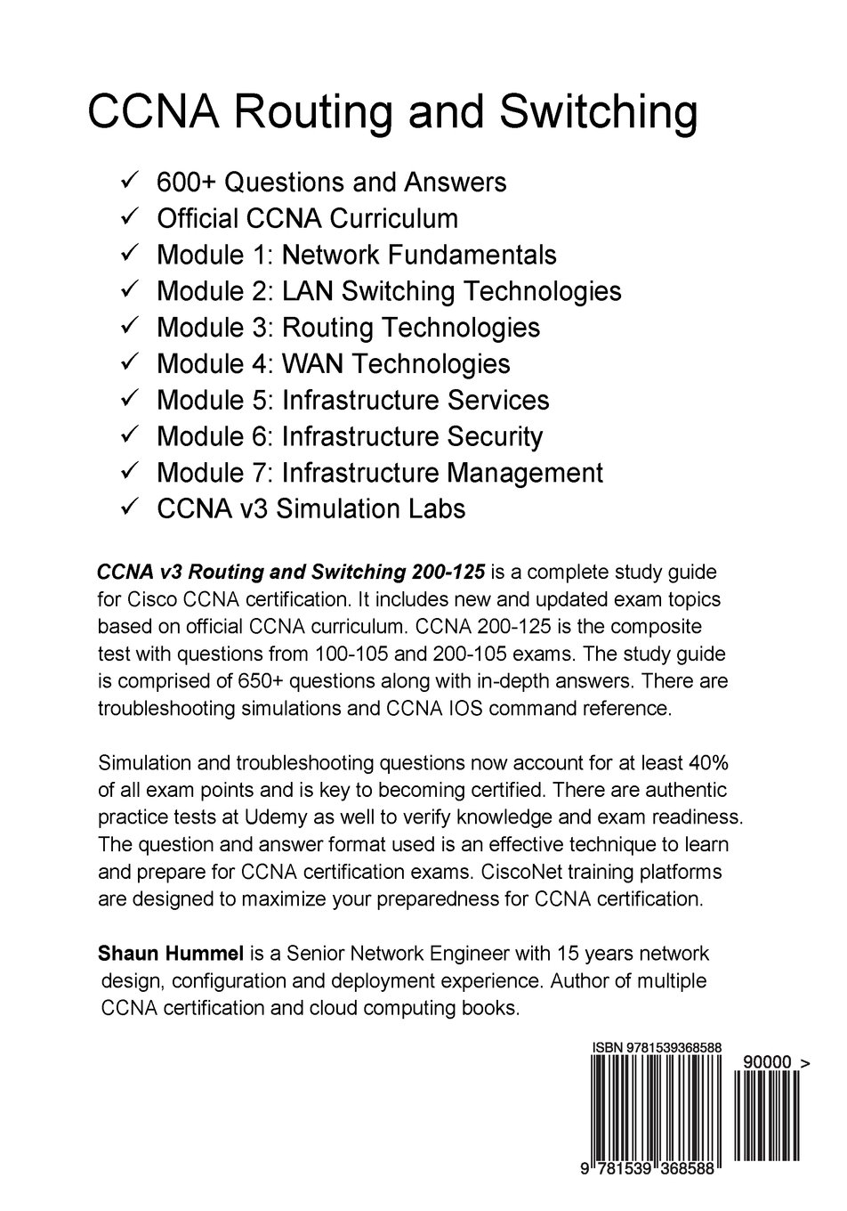 Ccna v3 routing and switching 200 125 certification study guide ccna v3 routing and switching 200 125 certification study guide shaun hummel 9781539368588 amazon books 1betcityfo Gallery