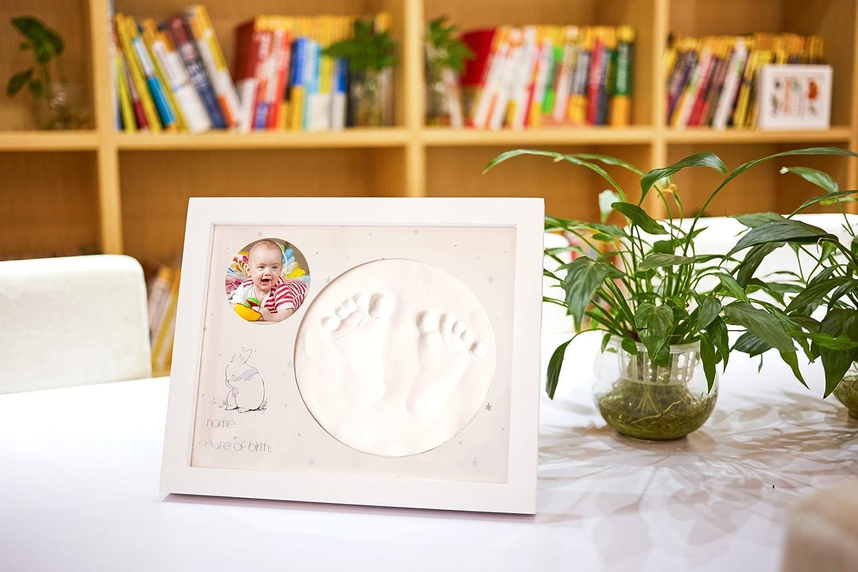 Kit de Marco Para Manos y Huellas de Beb/é de Bubbleliss Seguro y f/ácil de usar Un gran regalo de beb/é.