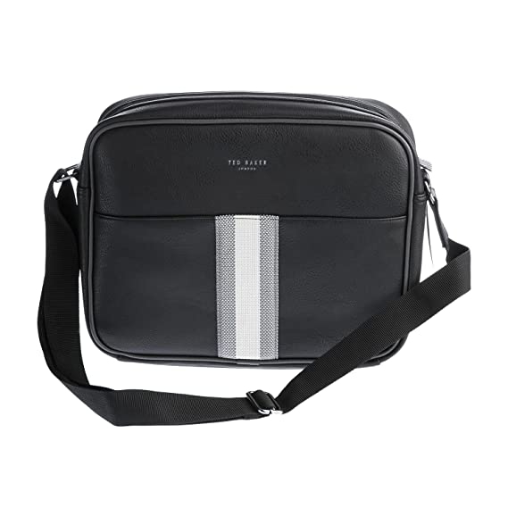 Ted Baker Delano Black PU Webbing Despatch Bag One Size  Amazon.co.uk   Clothing f6587f71717e9