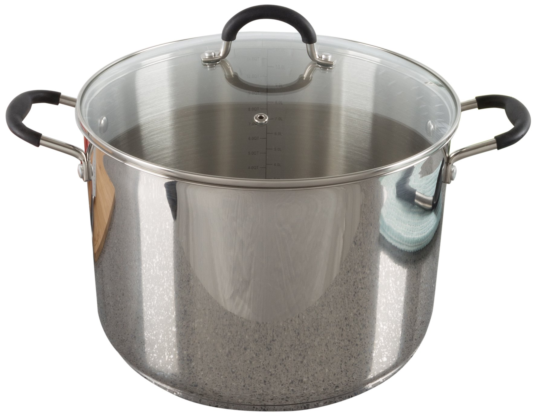 Large Stock Pot-Stainless Steel Pot with Lid-Compatible with Electric, Gas, Induction or Gas Cooktops-12-Quart Capacity Cookware by Classic Cuisine
