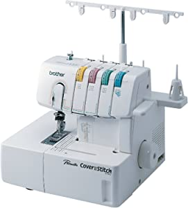 Brother 2340CV, Cover, Advanced Serger, Color-Coded Threading Guide, Dial Stitch Length, Presser Foot Pressure Adjustment, White