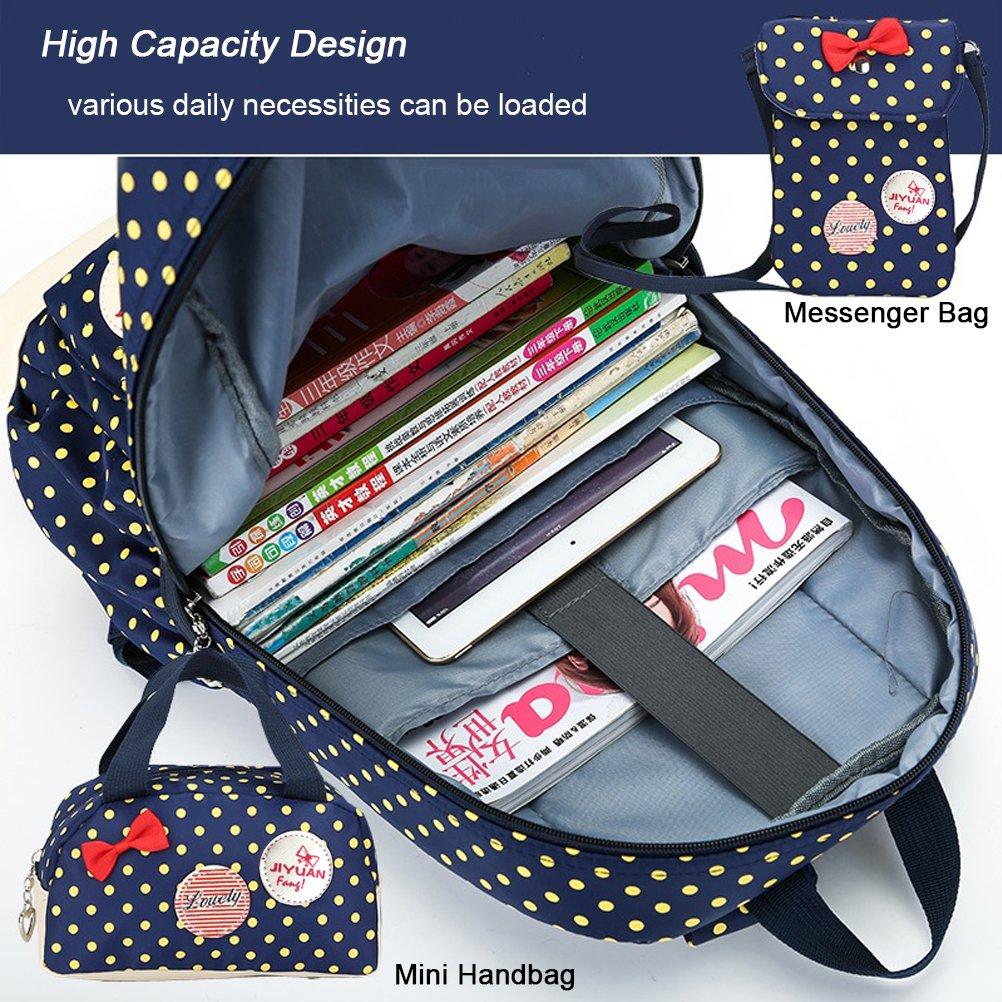 Amazon.com: FEWOFJ Cute Girl School Backpack, Set of 3, Lightweight Kid Cool Student Bookbag - Blue: Shoes