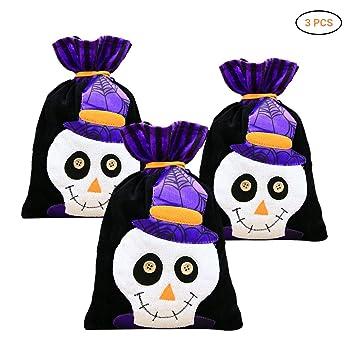 Surenhap 6pcs Bolsa de Halloween para Caramelos Bolsa Dulces ...