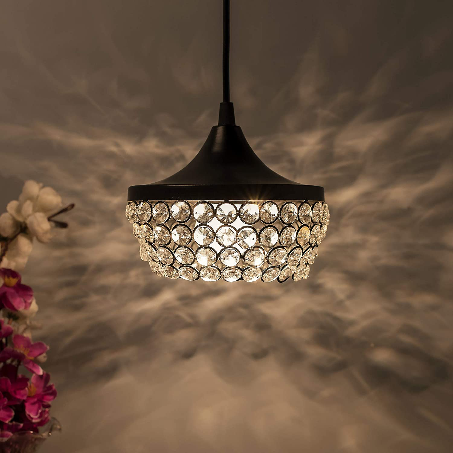 Buy Homesake Antique Matt Black Wall Spotlights Crystal Hanging Pendant Lights Lantern Ceiling Light Nordic E27 Jhumar Home Decor Items Pack Of 1 Online At Low Prices In India Amazon In