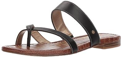 Sam Edelman Women's Bernice Slide Sandal, Black Leather, ...
