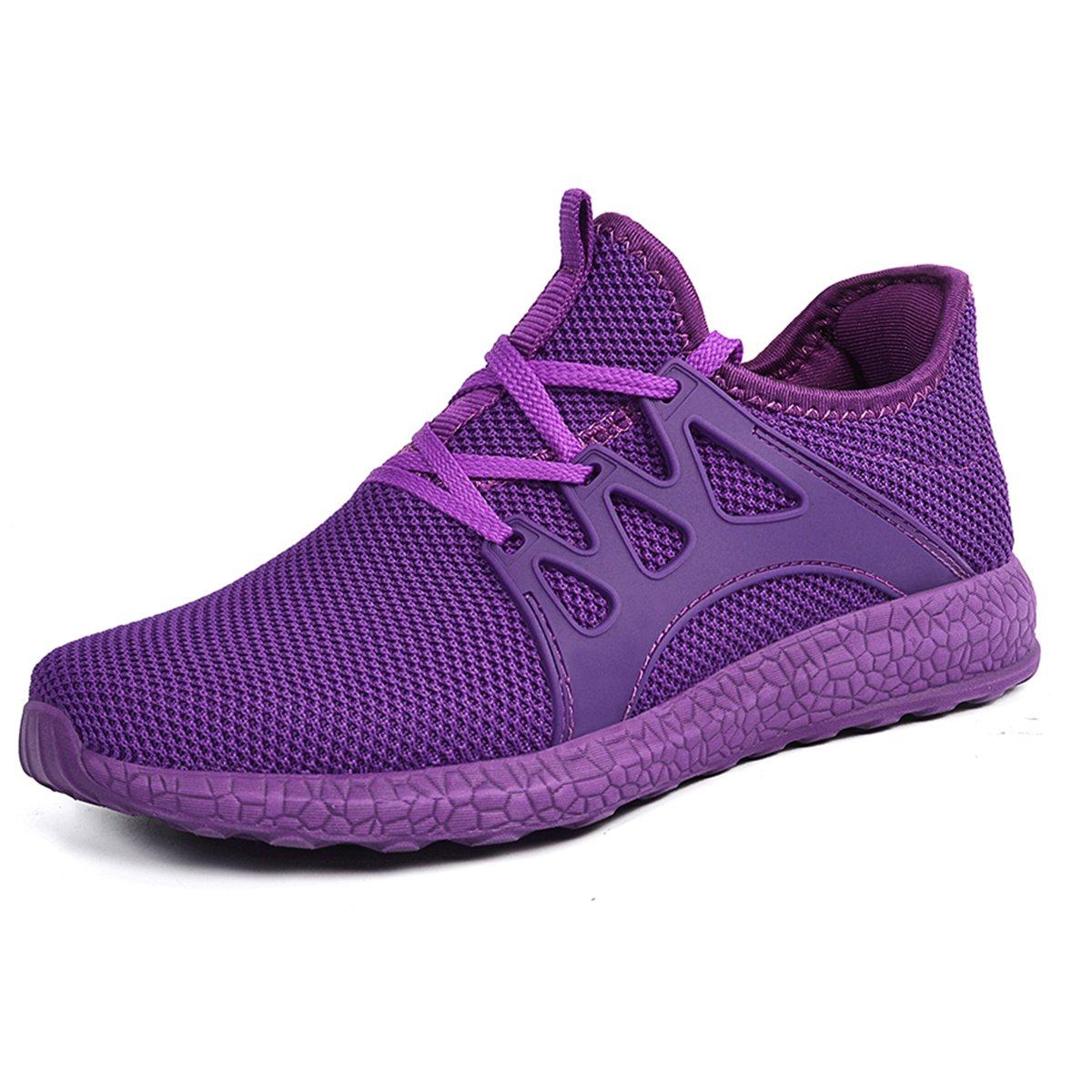 Purple Mxson Women's Ultra Lightweight Breathable Mesh Street Sport Walking shoes Casual Sneakers