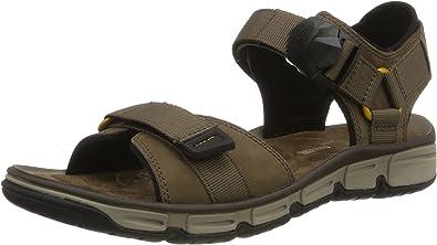 10 9 New Men/'s Clarks Explore Part Grey Nubuck Open Toe Sandals Size UK 8 11G