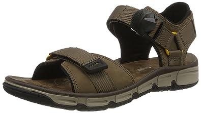 a528035731786 Clarks Men's Explore Part Sling Back Sandals, Beige (Mushroom Nubuck), 7 UK
