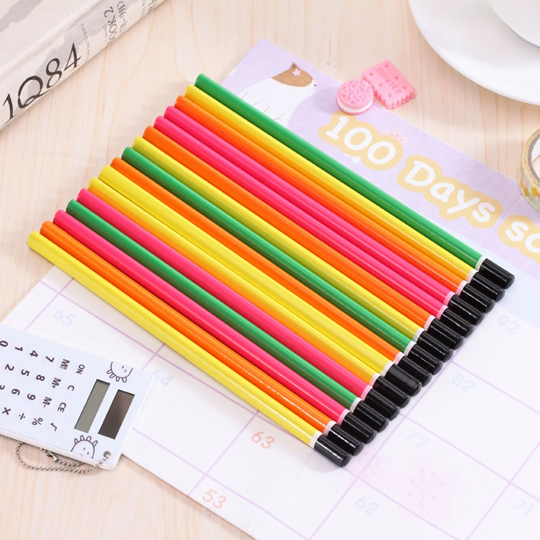 Funpa 50PCS Wood Pencil Colorful Pencil Sketch Pencil Wood Drawing Pencil for Primary Student by Funpa (Image #2)
