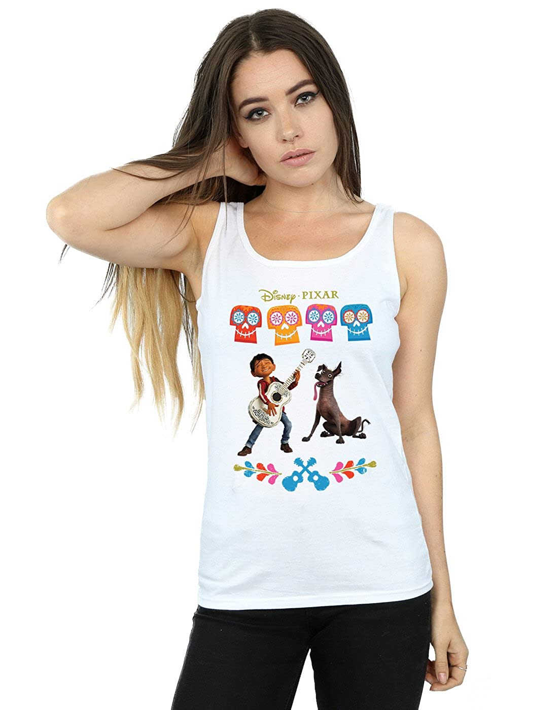 Disney Women's Coco Miguel Logo Tank Top Absolute Cult