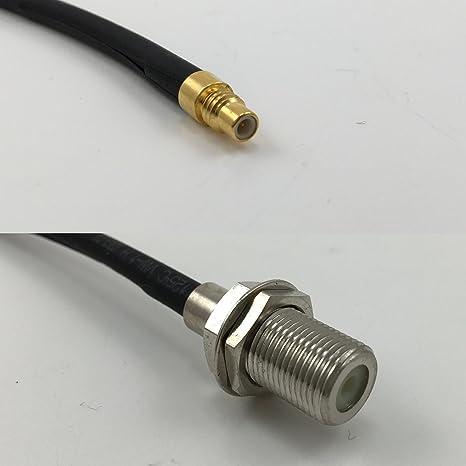 12 Inch rgu178 SMC macho a F hembra Jumper Pigtail RF Coaxial 50ohm Cable de alta