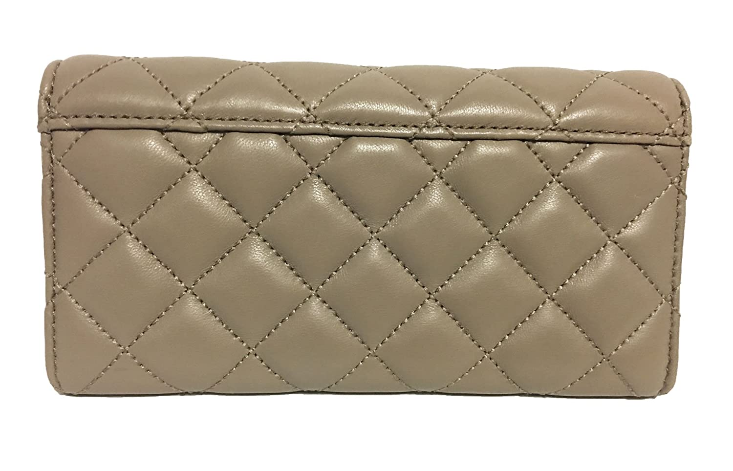 da3074a64332cc Amazon.com: MICHAEL Michael Kors Astrid Soft Quilted Leather Carry All  Wallet Dark Taupe/Gold: Shoes