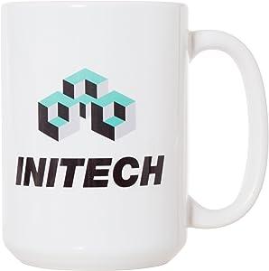 Initech - Funny Job Work Gift - 15oz Deluxe Double-Sided Coffee Tea Mug