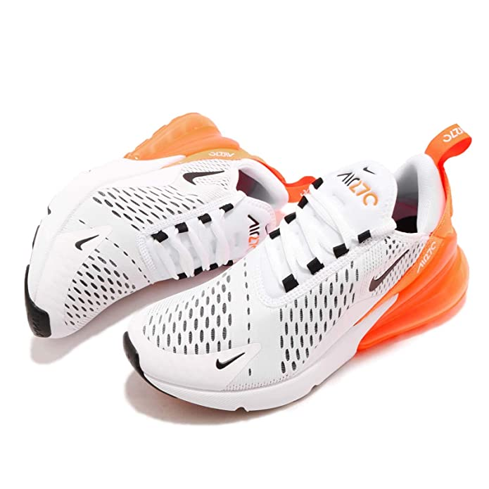 finest selection f8d7b 6df40 Amazon.com  Nike Air Max 270 Just Do It Womens Womens Ah6789-104 Size 5  WhiteBlack-Total Orange  Fashion Sneakers