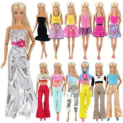 800d24bd7 Miunana 5x Vestidos de noche Casual Ropas con Camiseta y Pantalones Estilo  Aleatorio como Regalo para
