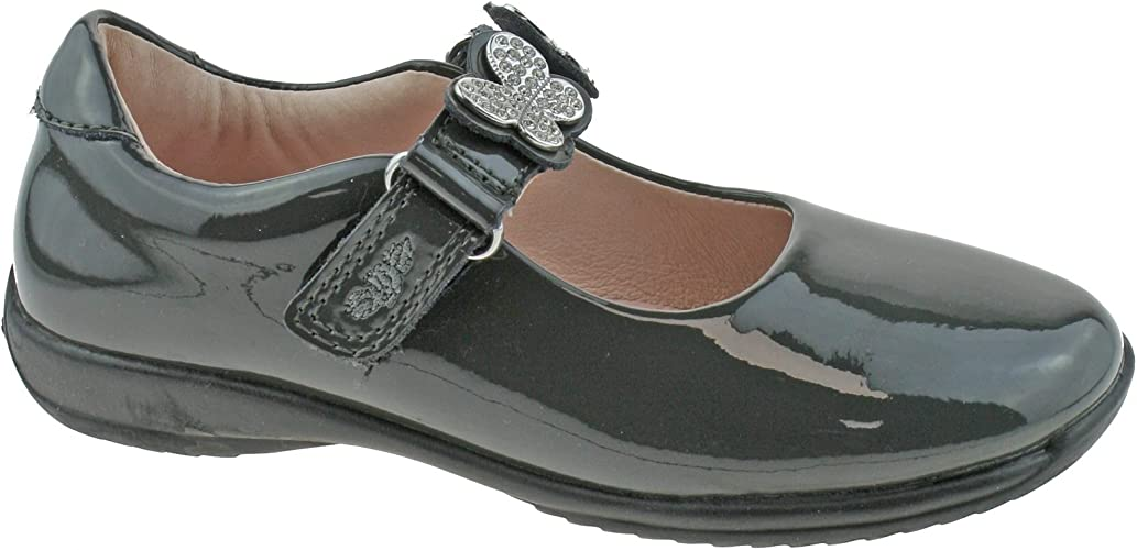 Love Grey Patent School Shoes F Fitting