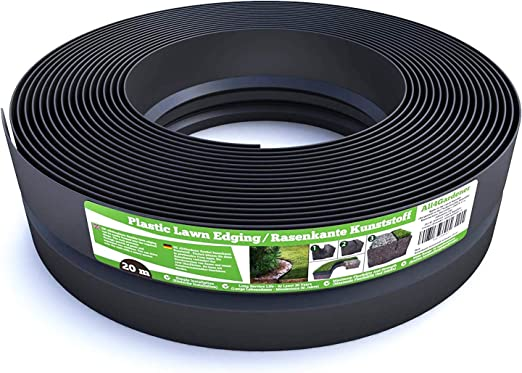 Flexible Borde de Jardín - Bordillo Escondido Plastico - Longitud 20 m (120 mm) - Instalación Simple, Flexibilidad Máxima, Suficientemente Fuerte, Made in EU - Borduras Jardín, Bordillos Para Jardín: Amazon.es: Jardín