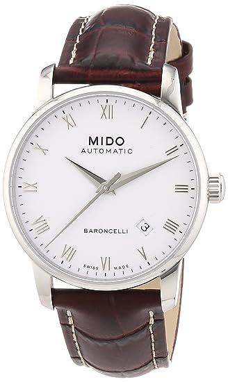 b979c8d72b2b Mido Reloj Analógico Automático para Hombre con Correa de Piel - M86004268   Amazon.es  Relojes
