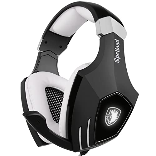 USB Gaming Headset-SADES A60/OMG Computer Over Ear Stereo Heaphones